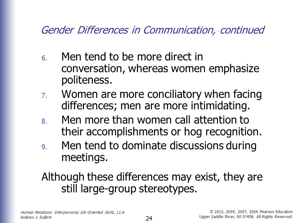 gender differences in politeness 23 discourse factors for politeness in order to find some possible answers about gender differences in language one has to.