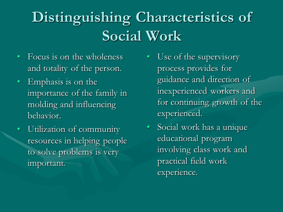 Characteristics of a community worker