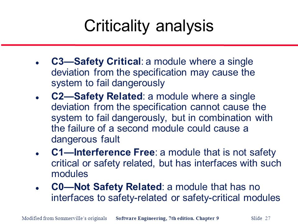 Safety Critical Systems Analysis