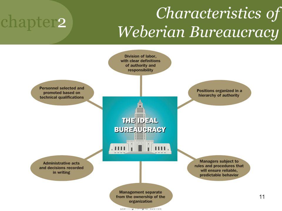 Characteristics of Weberian Bureaucracy