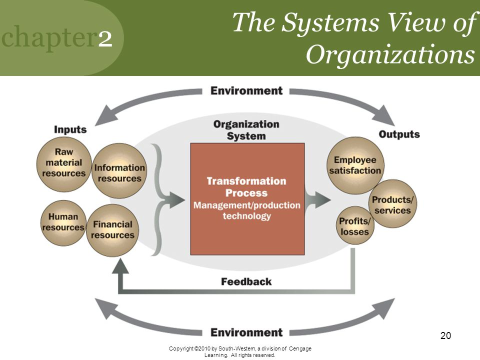 The Systems View of Organizations