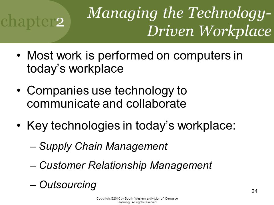 Managing the Technology-Driven Workplace