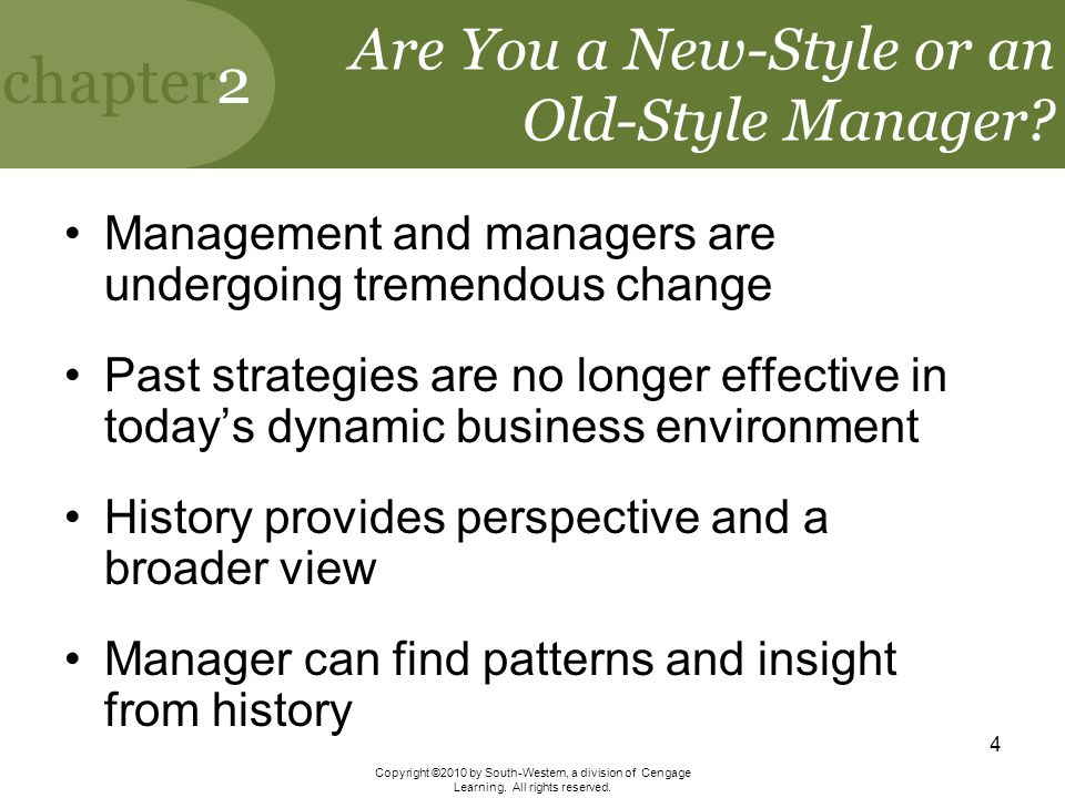Are You a New-Style or an Old-Style Manager