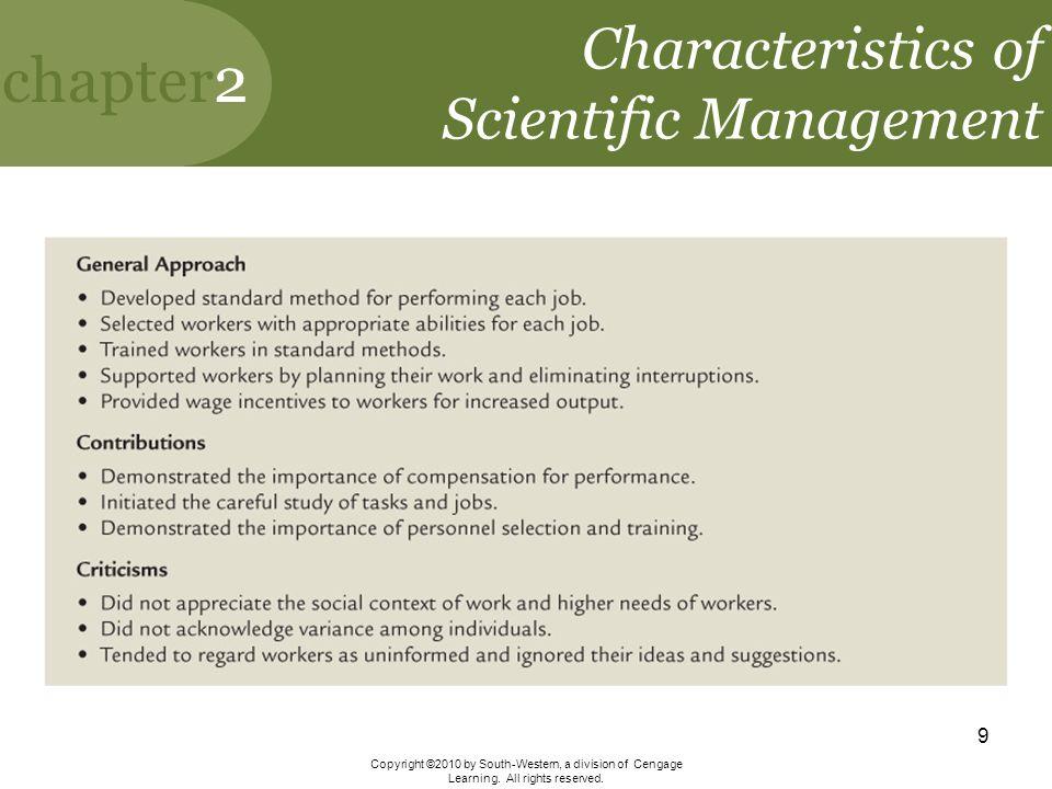 Characteristics of Scientific Management