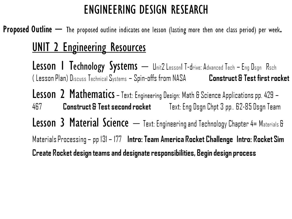 Engineering Design And Research Ppt Download