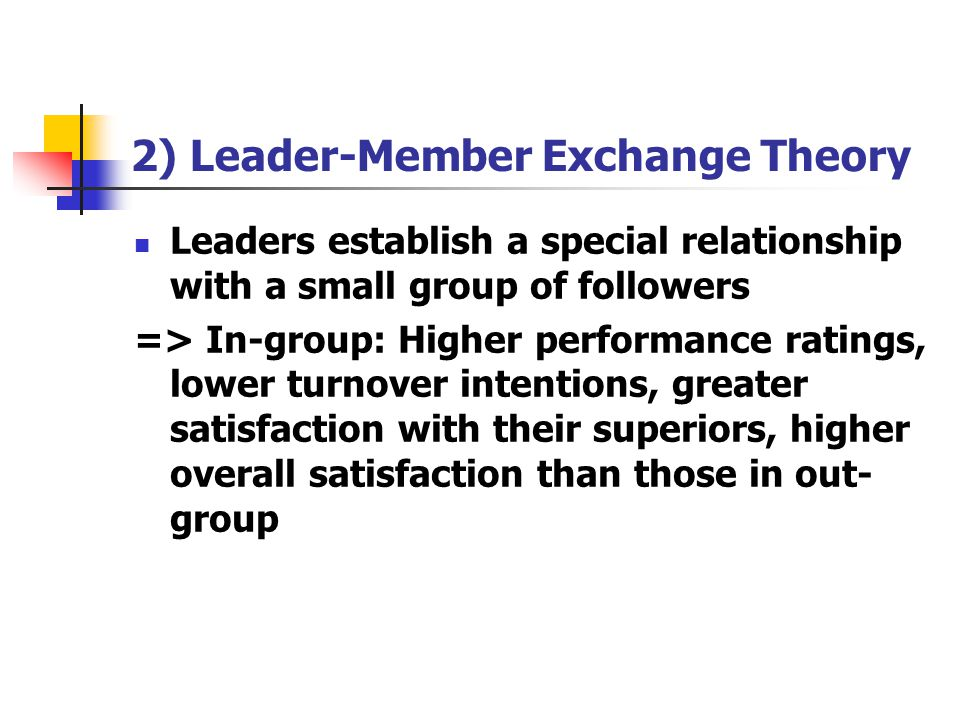 2) Leader-Member Exchange Theory