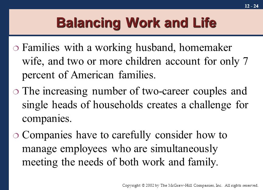 the challenges in balancing work and family life The difficulty of balancing work and family life: impact on the physical and mental health of quebec families direction d veloppement des individus et des communaut s.