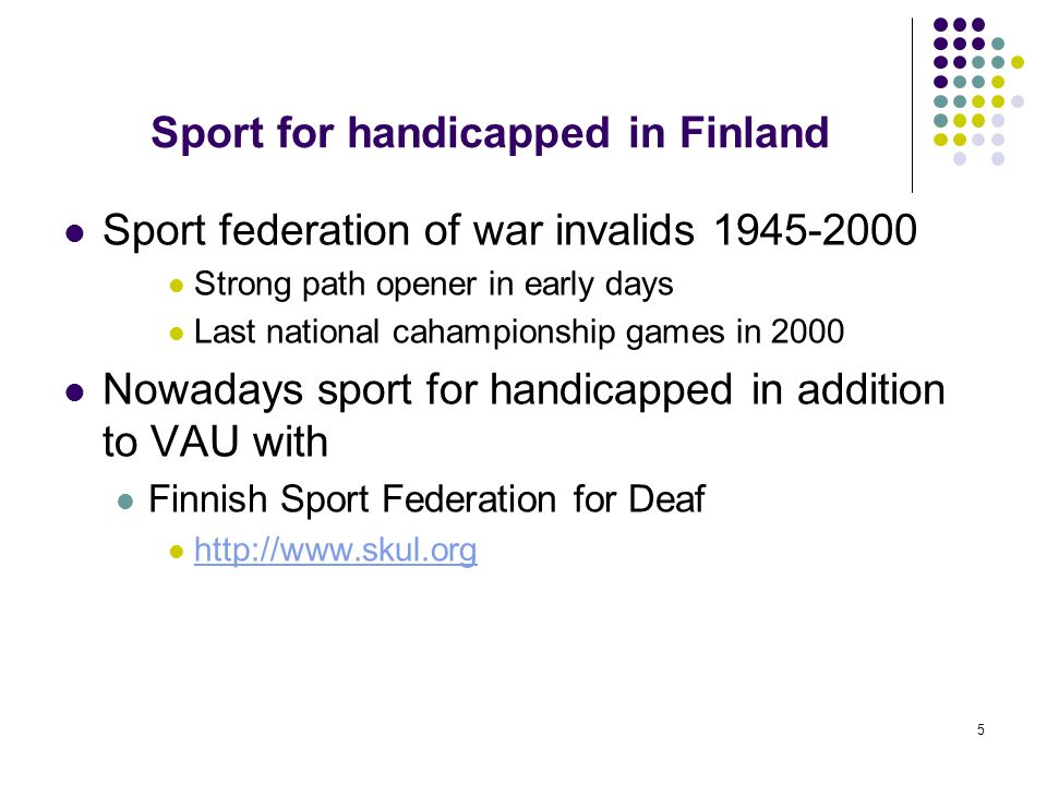 Sport for handicapped in Finland