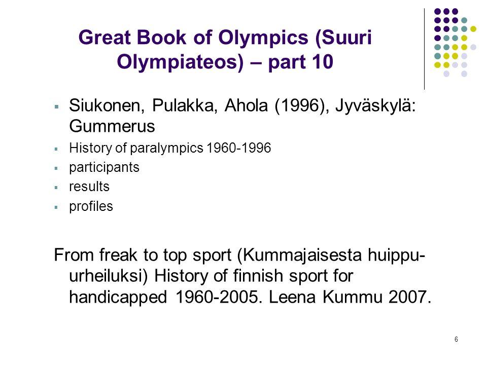 Great Book of Olympics (Suuri Olympiateos) – part 10