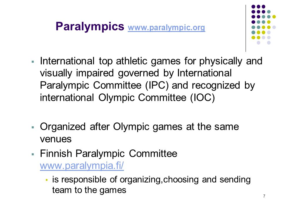 Paralympics www.paralympic.org