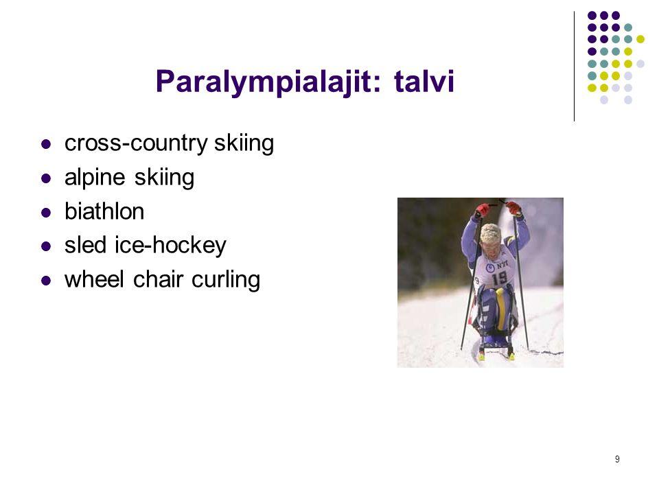 Paralympialajit: talvi