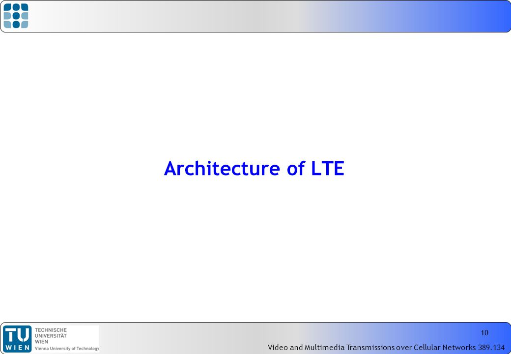 Introduction to mobile cellular networks part ii ran for Architecture lte