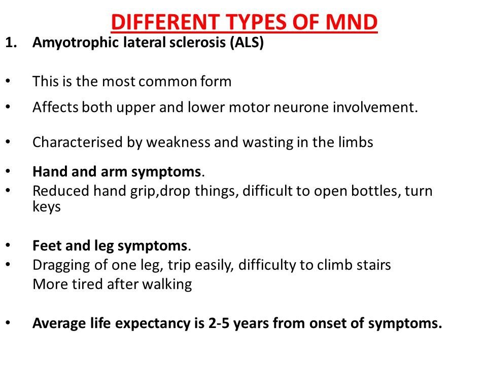 Motor neurone disease different types life expectancy What is lower motor neuron disease