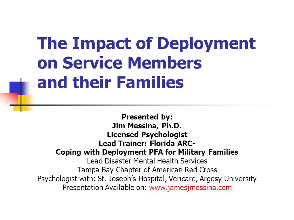 effect of military deployment on the family Commentary: a closer look at the effect military deployment has on children   of the family health consequences of combat deployment.