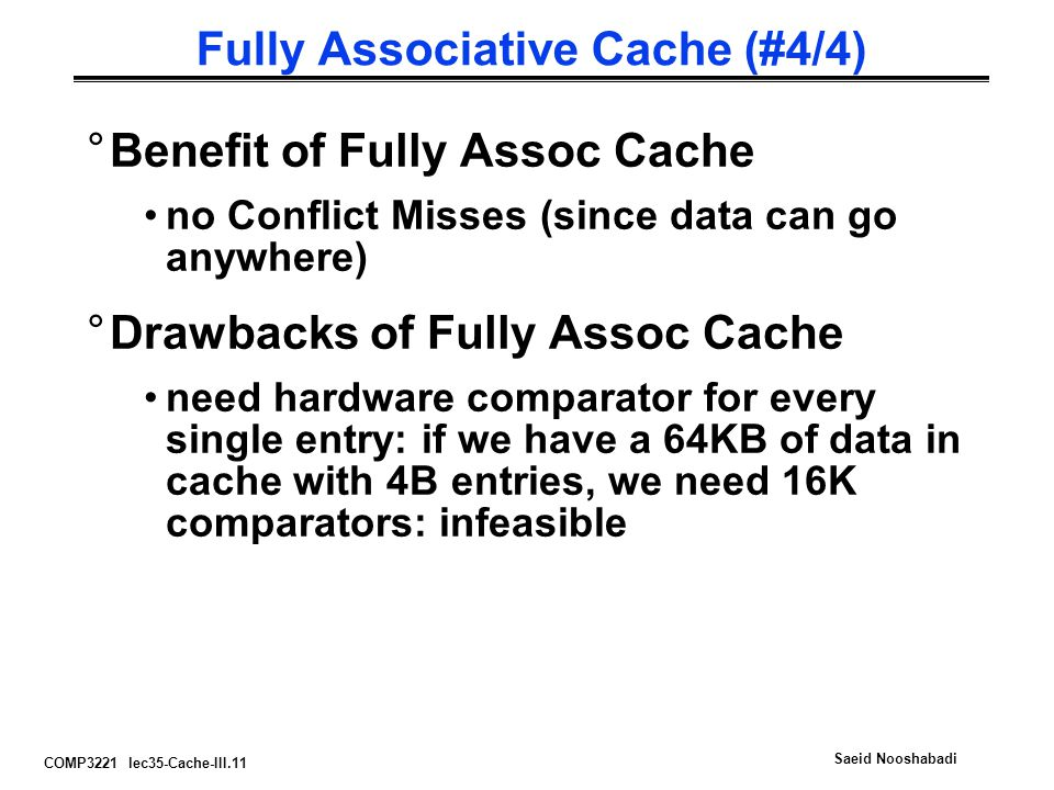 Fully Associative Cache (#4/4)