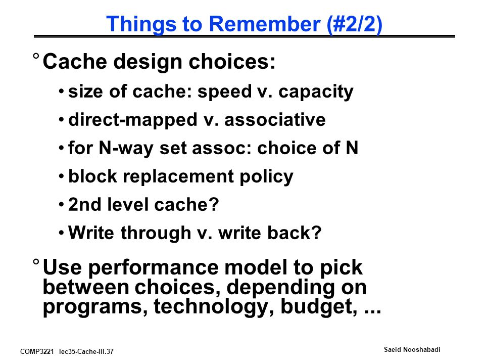Things to Remember (#2/2)