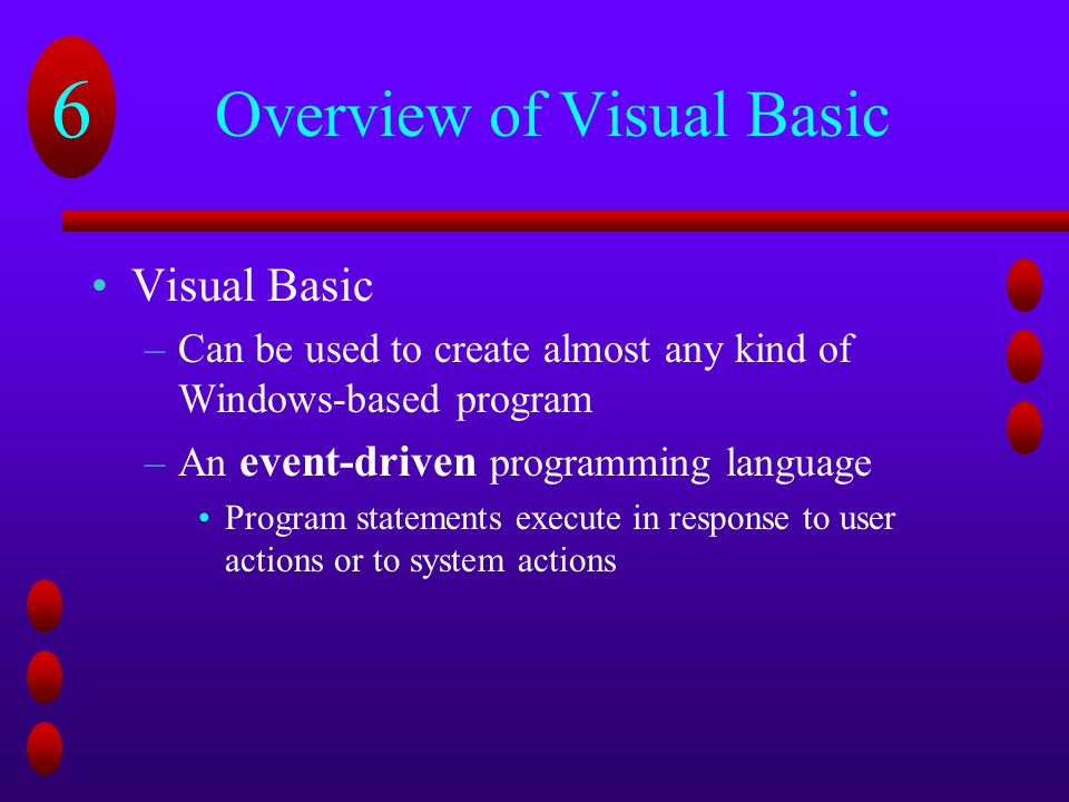 Overview of Visual Basic
