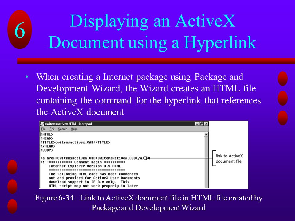 Displaying an ActiveX Document using a Hyperlink