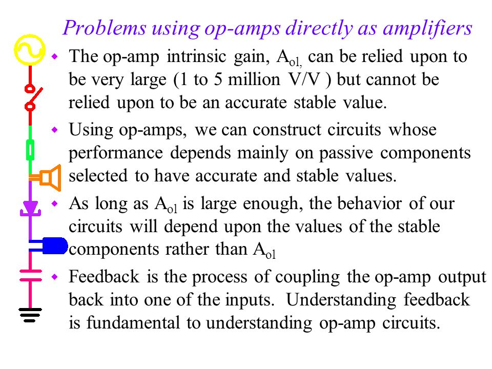 Problems using op-amps directly as amplifiers