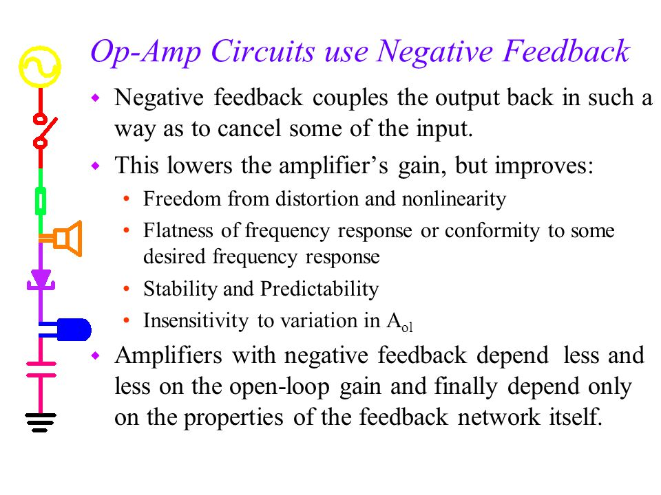 Op-Amp Circuits use Negative Feedback