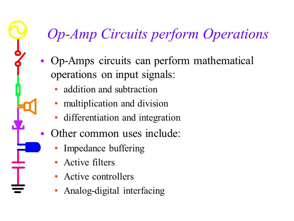 Op-Amp Circuits perform Operations