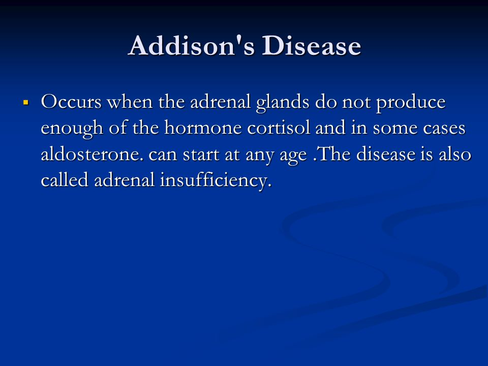 Addison s Disease