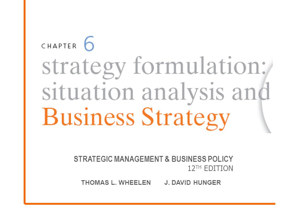 Strategic Management Business Policy 12th Edition Ppt Video