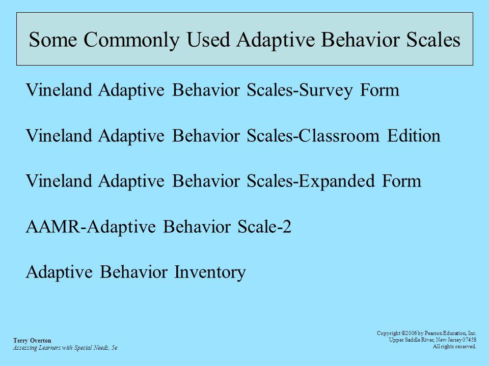 intelligence and adaptive behavior