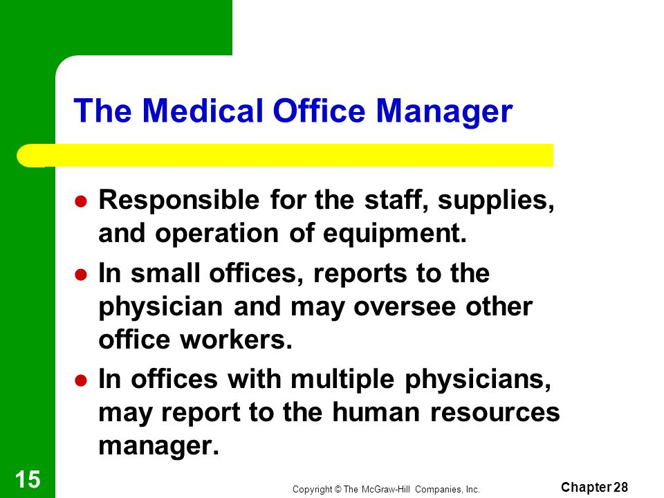 The Medical Office Manager