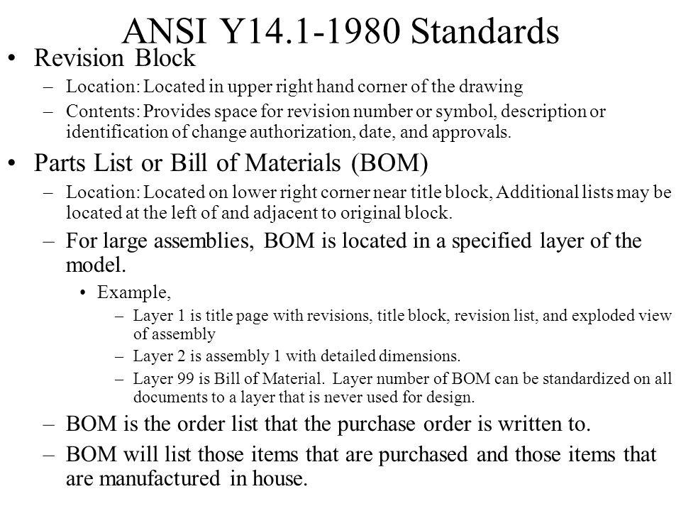 ANSI Y14.1-1980 Standards Revision Block