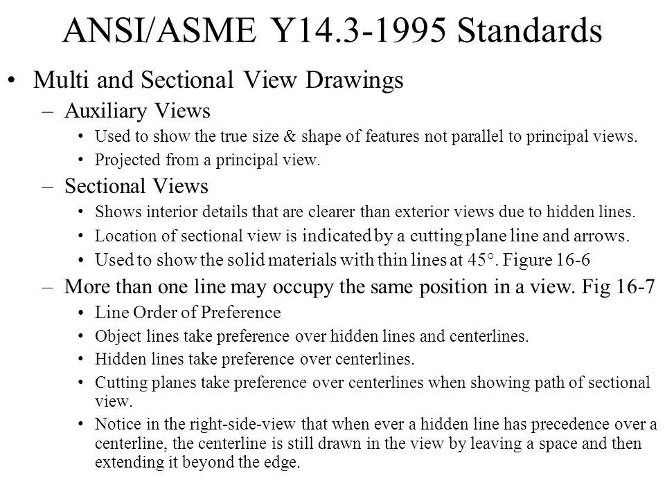 ANSI/ASME Y14.3-1995 Standards