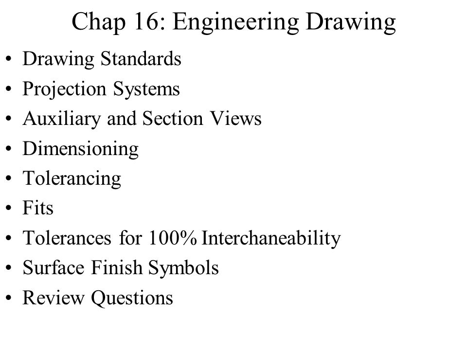 Chap 16: Engineering Drawing