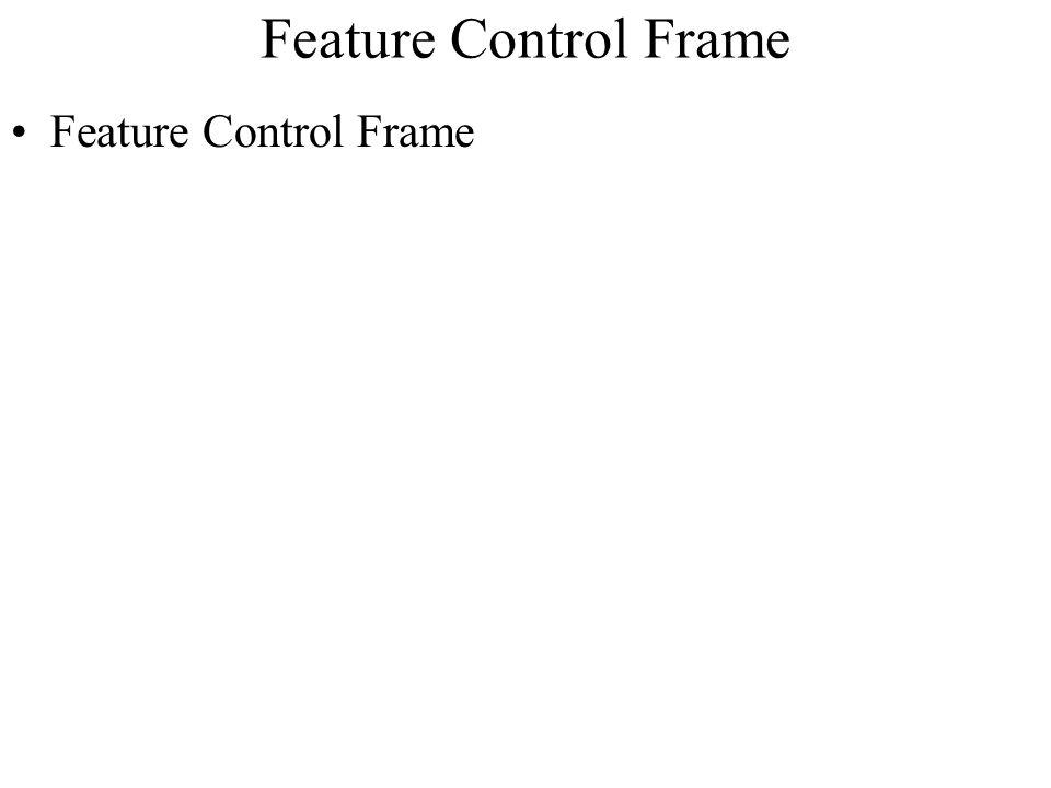 Feature Control Frame Feature Control Frame