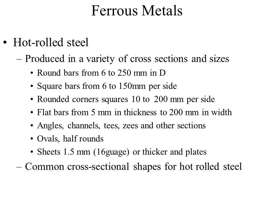Ferrous Metals Hot-rolled steel