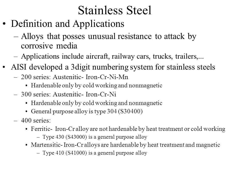 Stainless Steel Definition and Applications