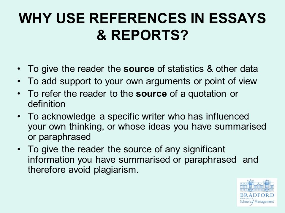 references in essays