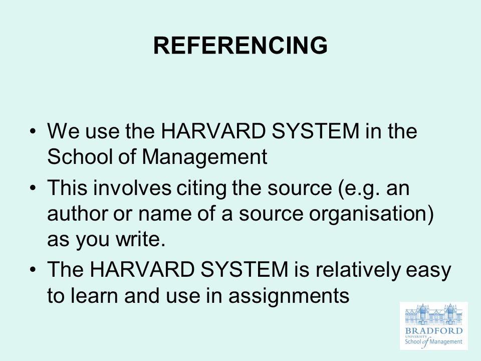 How to Write a Bibliography in the Harvard System