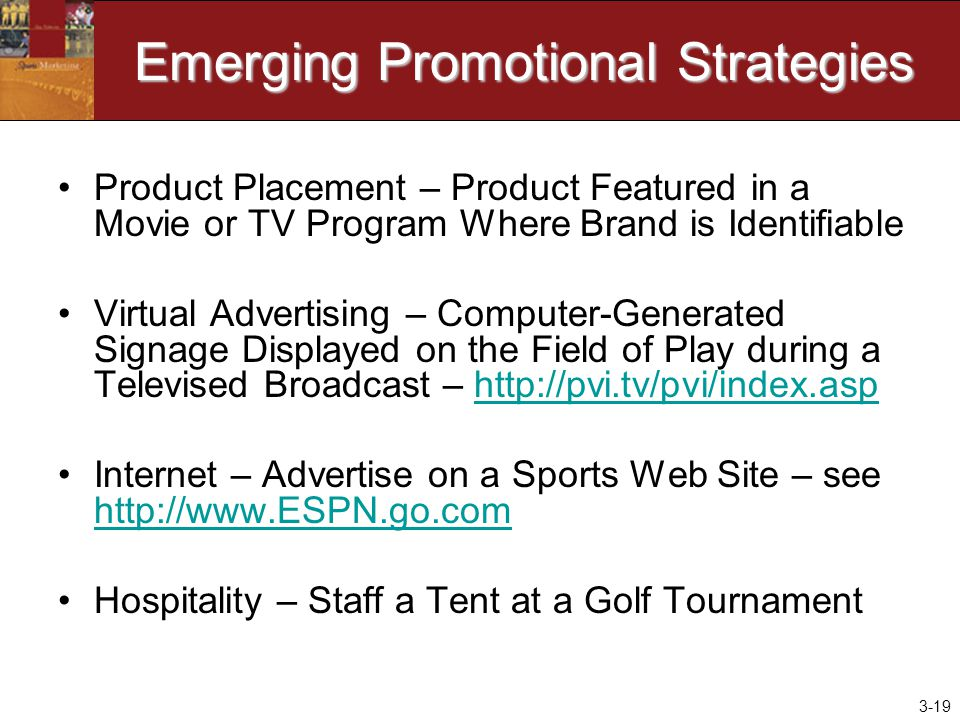 Emerging Promotional Strategies