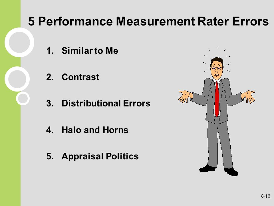 5 Performance Measurement Rater Errors