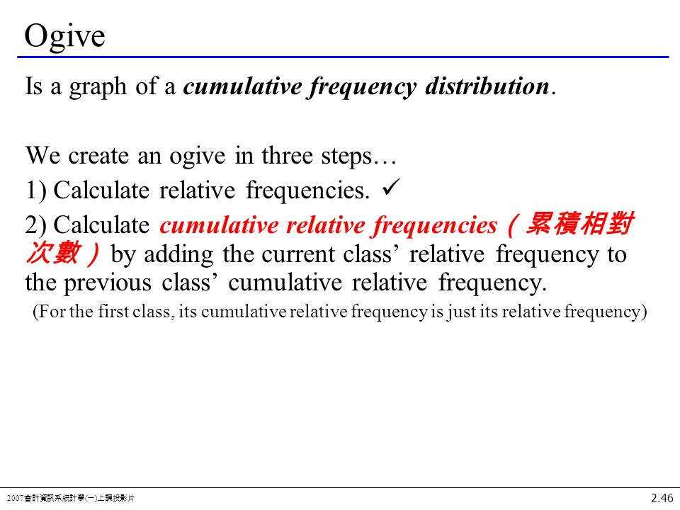 how to create a cumulative frequency graph
