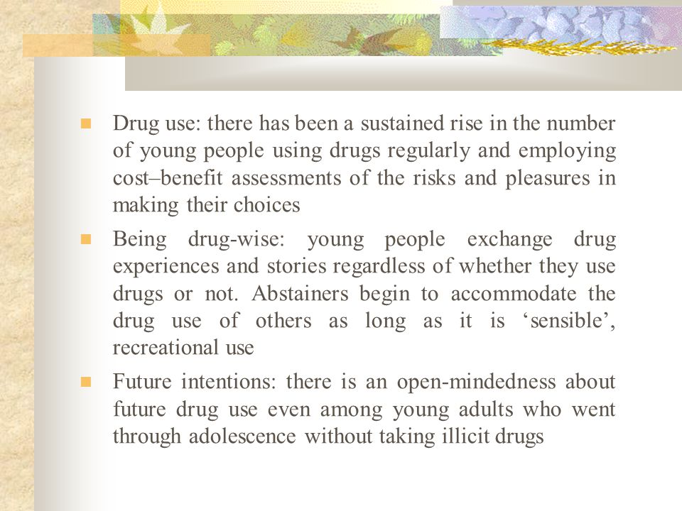 Interactionist illicit drug use