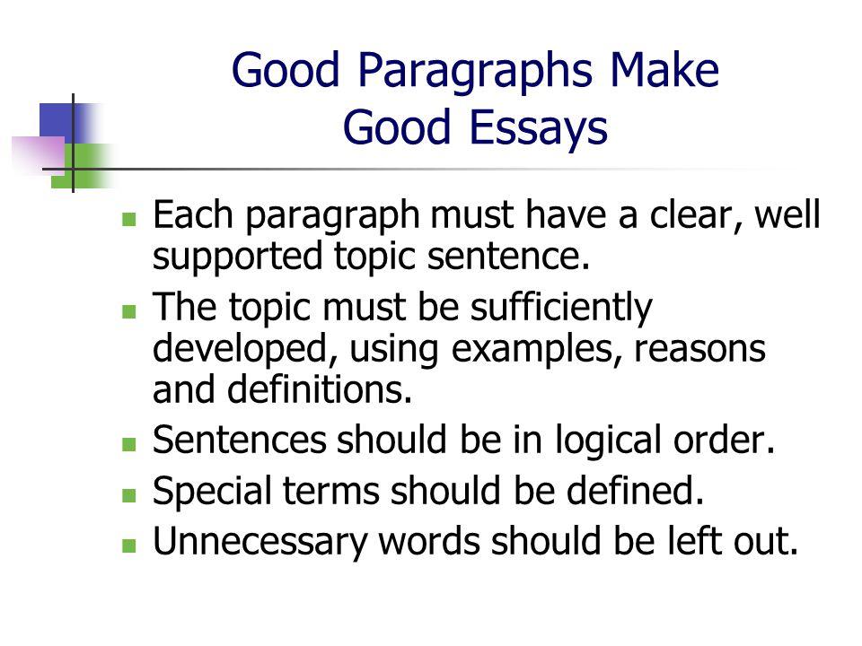 Essay good make
