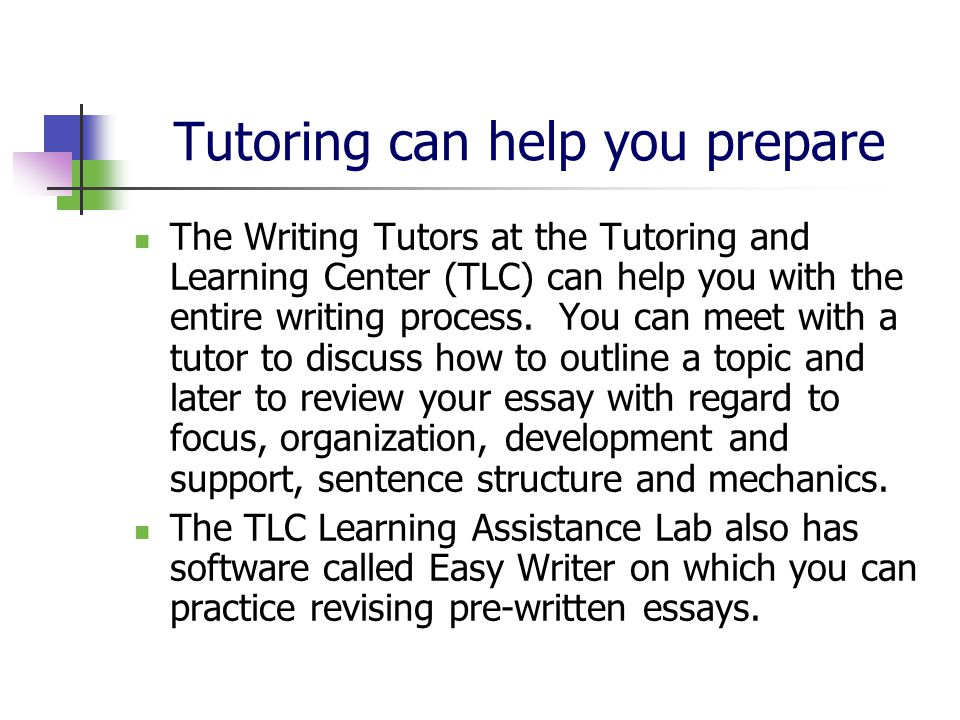 tutors for writing college essays