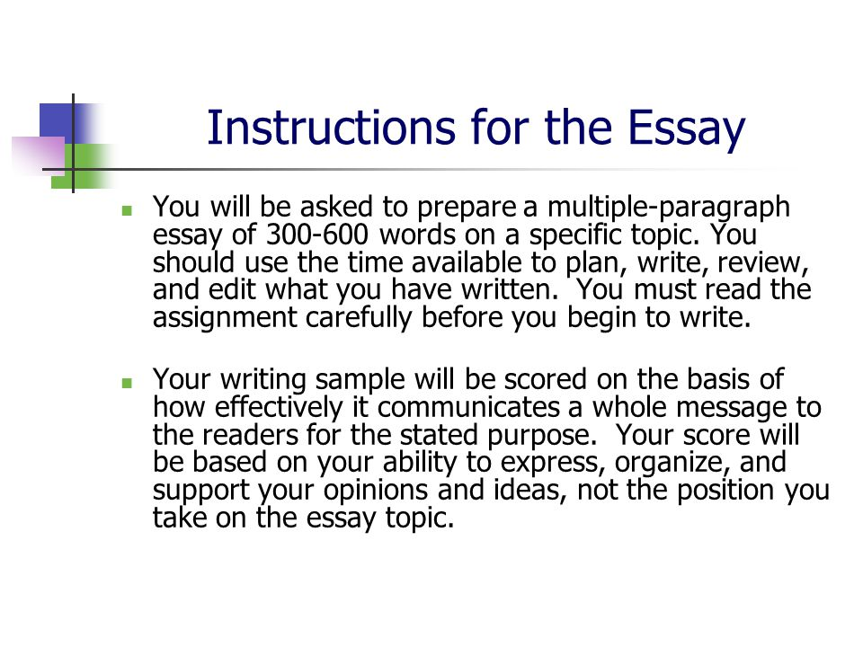 Essay writing tests