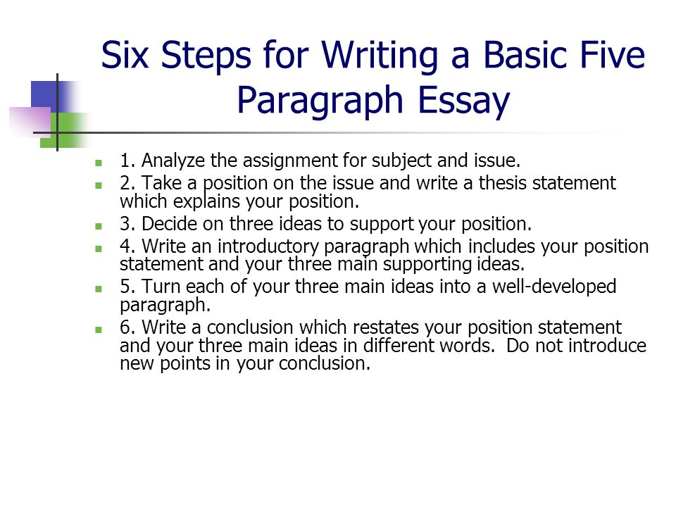 How To Write A Essay Paragraph