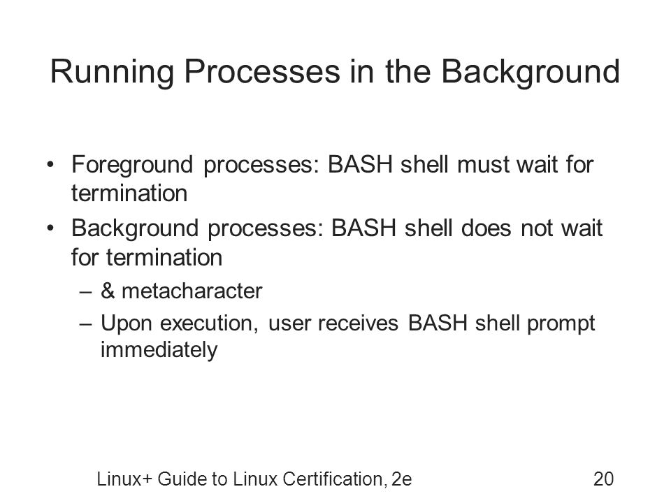 Running Processes in the Background
