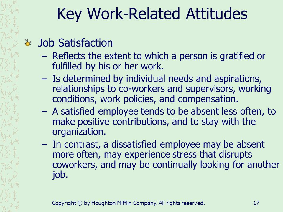 Key Work-Related Attitudes
