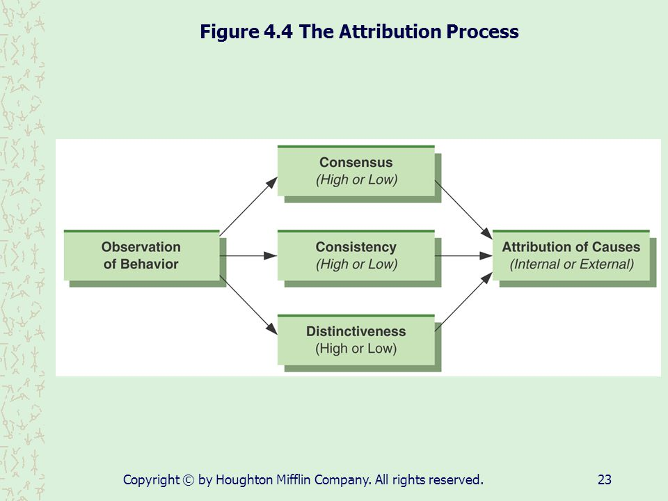 Figure 4.4 The Attribution Process