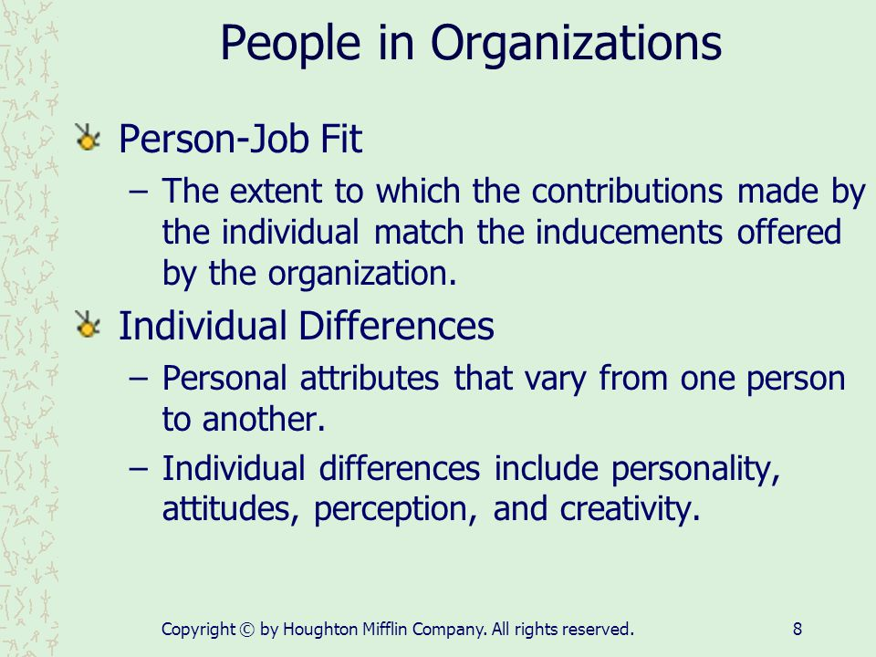 People in Organizations