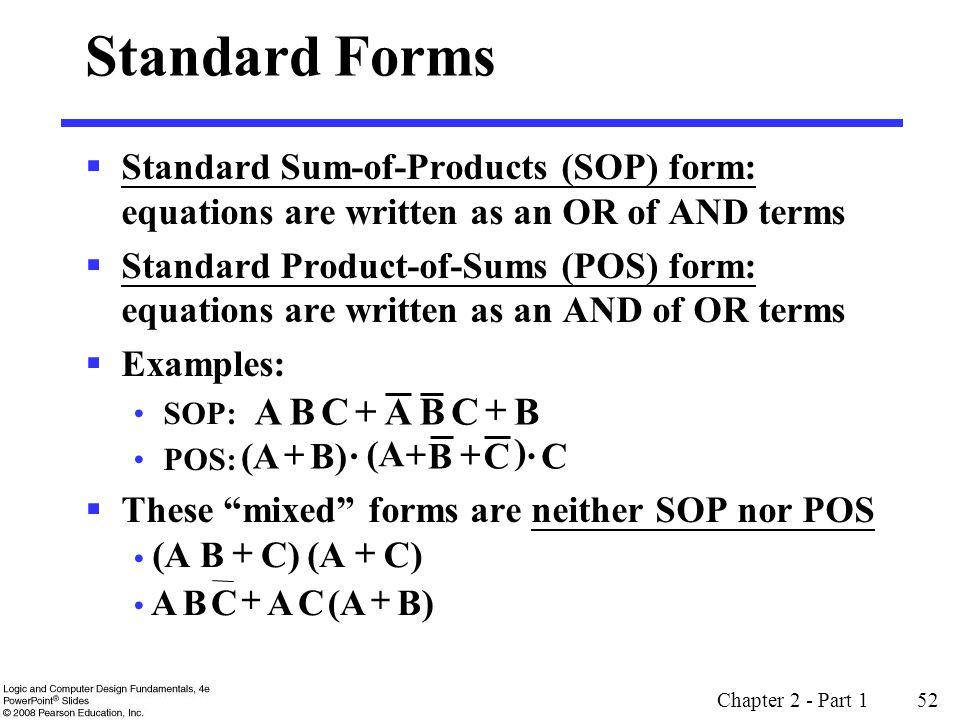 Standard Form Logic Hossshana